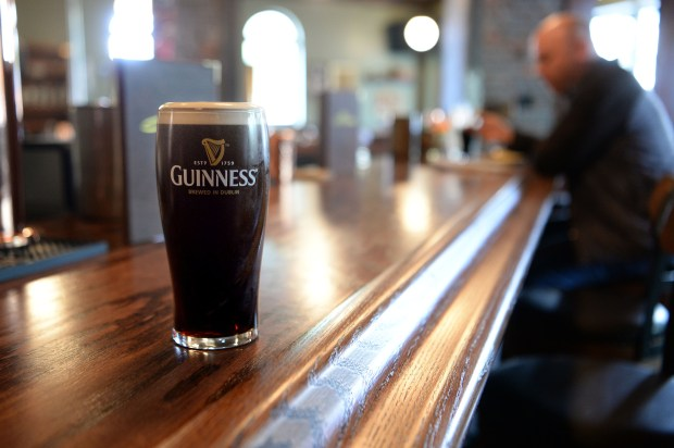 A Guinness photographed at Sláinte Pub & Grub in Oakland, Calif., on Thursday, June 8, 2017. The Irish Pub opened in April in the Jack London Square district. (Dan Honda/Bay Area News Group)