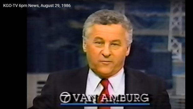 Fred Van Amburg is seen anchoring a newscast on KGO-TV in 1986. Thelegendary Bay Area TV anchor died June 22, 2017, at his East Bay home. (KGO)