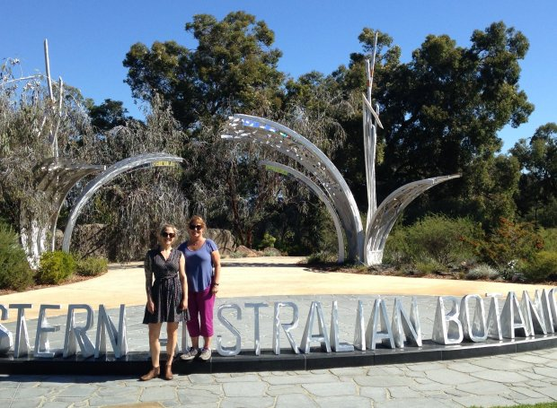 Menlo Park resident Sandy Bardas' recent travels to see her daughter,Tamara, in Perth included a stop at the Western Australia Botanical Garden. (Courtesy of the Bardas Family)