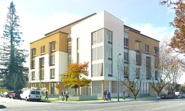The five-story Eagle Park Apartments, with a price tag of $33 million, will be the first complex in Mountain View to set aside units just for military veterans.