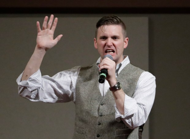 Richard Spencer, who leads a movement that mixes racism, white nationalism and populism. (AP Photo/David J. Phillip, File)