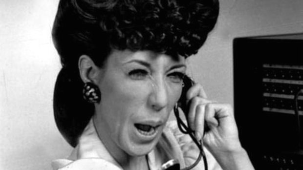 "Lily Tomlin as Ernestine in a 1973 episode of NBC's pioneering comedyseries ""Rowan & Martin's Laugh-In."" (Los Angeles Times)"