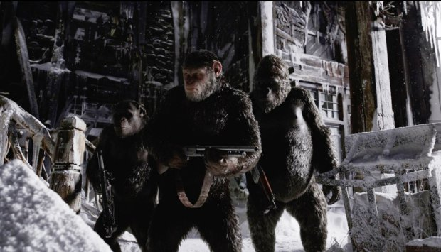 "A scene from ""War for the Planet of the Apes."" (Twentieth Century Fox Film Corporation.)"