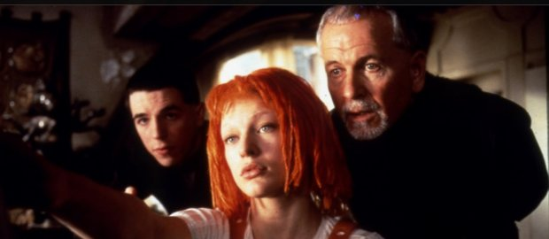 "Milla Jovovich, front, Ian Holm and Charlie Creed-Miles in ""The Fifth Element"" (1997). (Sony Pictures Home Entertainment)"