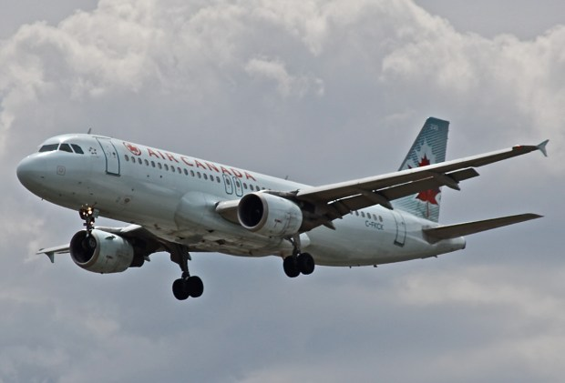Courtesy FlightAware - This Air Canada Airbus 320 was the aircraft that came within seconds of a major collision with two other aircraft on July 7, 2017, when the pilot of the plane mistook a crowded taxiway at San Francisco International Airport as the runway he was supposed to land upon. New data reveals the pilot had already flown over the tops of two other aircraft on the taxiway and descended as low as 81 feet above two other planes before aborting his landing attempt.