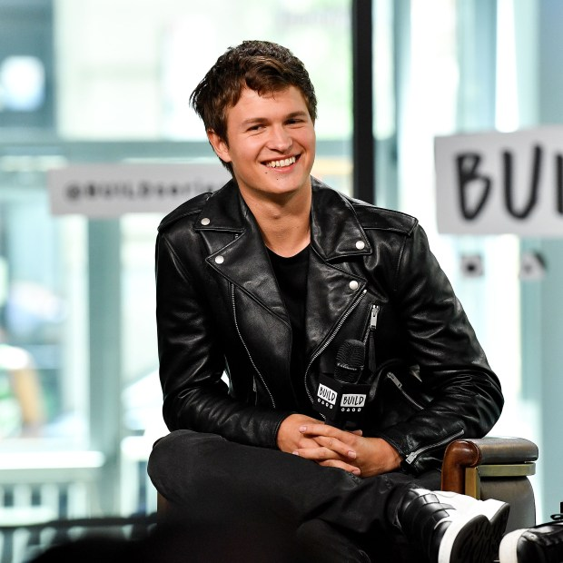 "NEW YORK, NY - JUNE 27: Ansel Elgort visits Build to discuss ""Baby Driver"" at Build Studio on June 27, 2017 in New York City. (Photo by Dia Dipasupil/Getty Images)"