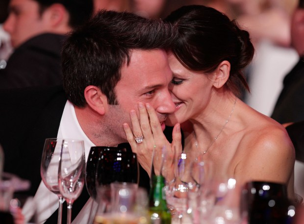 LOS ANGELES, CA JANUARY 14: Actor Ben Affleck and actress Jennifer Garner pose during the 16th annual Critics' Choice Movie Awards at the Hollywood Palladium on January 14, 2011 in Los Angeles, California. (Photo by Christopher Polk/Getty Images for VH1)