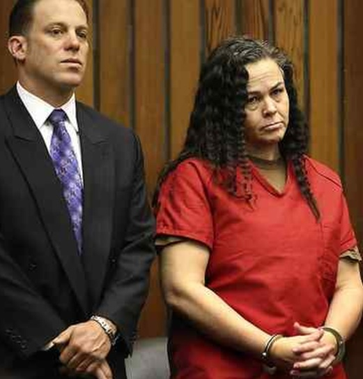 Rashel Brandon stands with her attorney Anthony Robinson in court Thursday. (Shmuel Thaler -- Santa Cruz Sentinel)