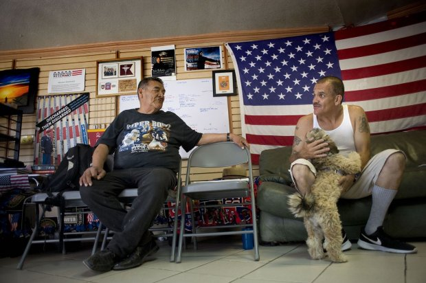 Deported U.S. military veterans Andy de Leon, left, and Alejandro GomezCortez chat at the Deported Veterans Support House in Tijuana. (Photo by David Maung / CALmatters) *Laura Oda* staff photographer | Editorial loda@bayareanewsgroup.com 510-208-6474 Direct @lodaphoto bayareanewsgroup.com *Over 5 million engaged readers weekly*