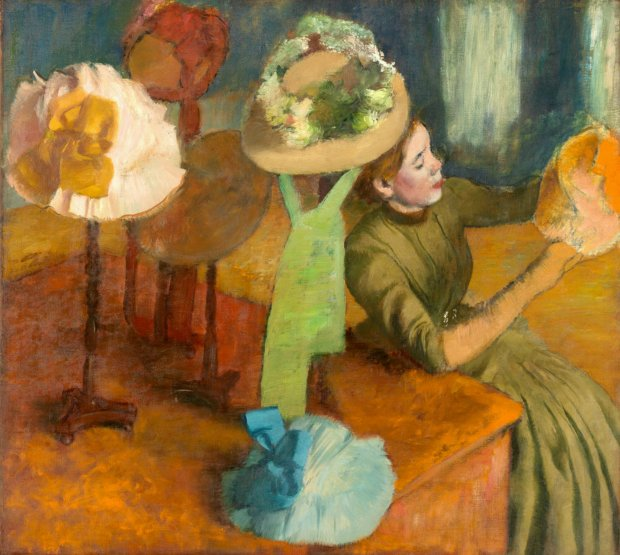 """Edgar Degas, """"The Millinery Shop,"""" 1879–1886. (Courtesy of Fine ArtsMuseums of San Francisco)"""