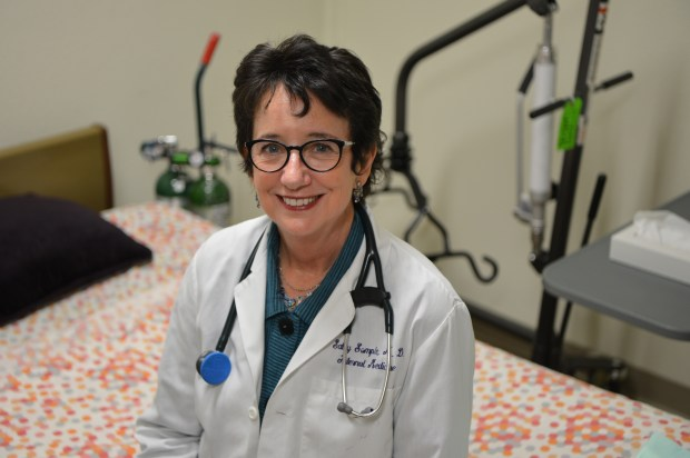 Dr. Sally Sample, chief medical officer for Hospice East Bay, is photographed in Pleasant Hill, Calif. on Wednesday, July 12, 2017. (Kristopher Skinner/Bay Area News Group)