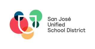 In 2016 San Jose Unified School District commissioned a $300,000 rebranding initiative to discover its message and update its logo. This is the district's new logo, with five colors representing different constituencies in the district. (Courtesy San Jose Unified School District)