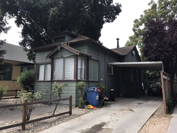 Pictured is a home where a 20-year-old Marina woman was shot and killed on July 3, 2017 on South 10th Street in downtown San Jose.