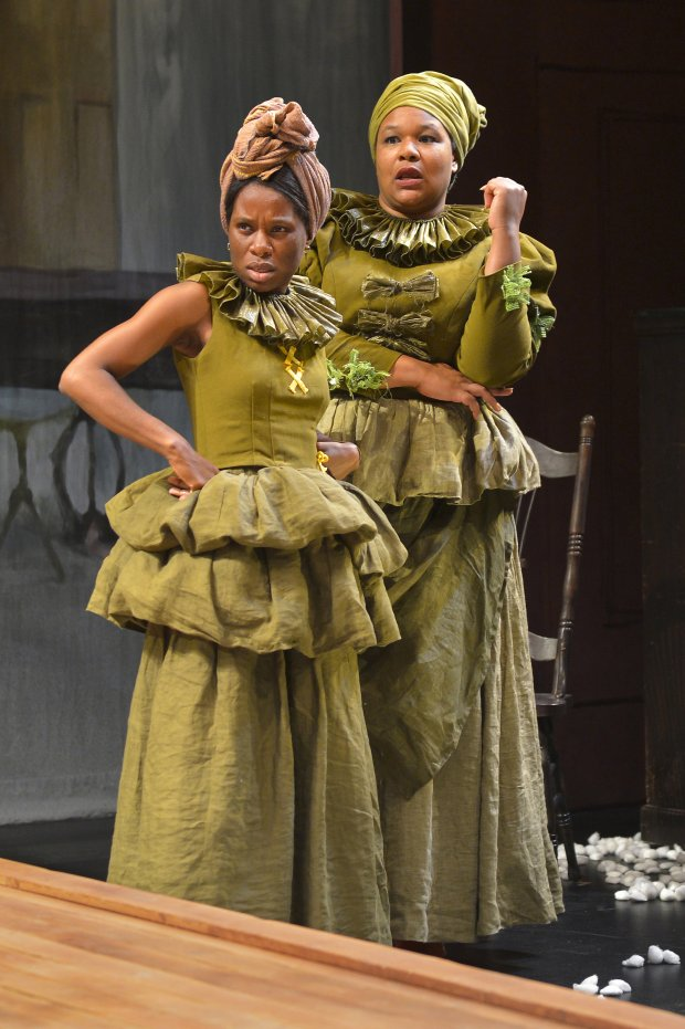 Afi Bijou and Jasmine Bracey in the West Coast premiere of *An Octoroon* atBerkeley Rep. (Kevin Berne/Berkeley Repertory Theatre)