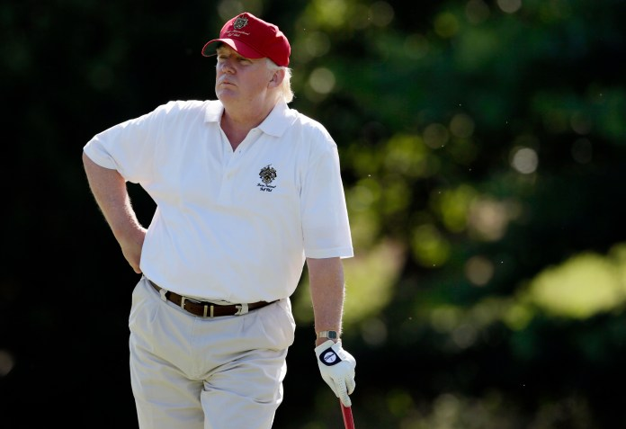 Image result for trump golfing