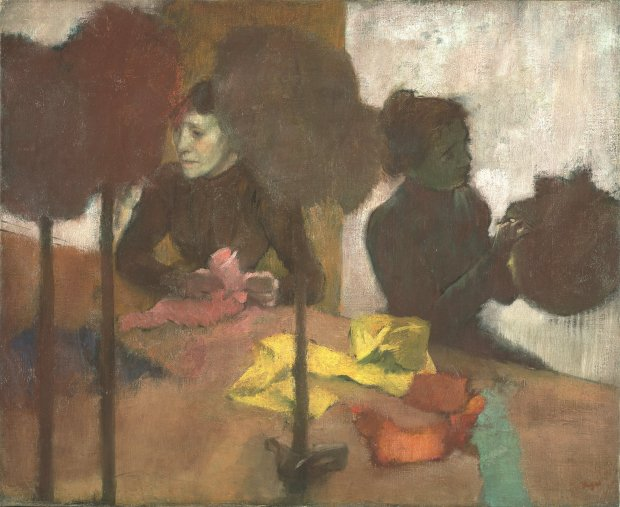 """Edgar Degas, """"The Milliners,"""" 1882–before 1905. (Courtesy of Fine ArtsMuseums of San Francisco)"""