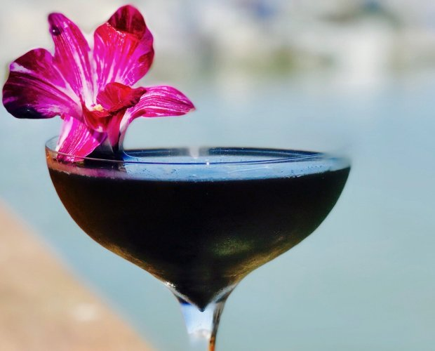 This cocktail from the king of tiki bars is made with activated charcoaland is inspired by the black sand beaches of Punalu'u, Hawaii (Photo: Trader Vic's).
