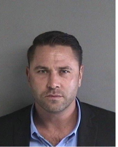 Kyle Chapman, shown in this Alameda County jail booking photo, faces felony charges of carrying a leaded stick at a protest earlier this year.