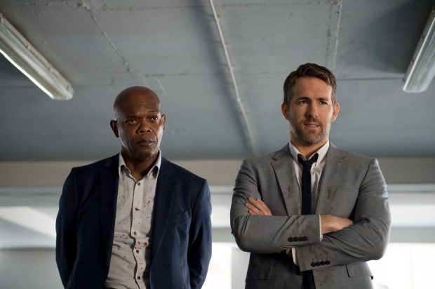"Samuel L. Jackson with Ryan Reynolds in ""The Hitman's Bodyguard."" (Jack English/Lionsgate)"
