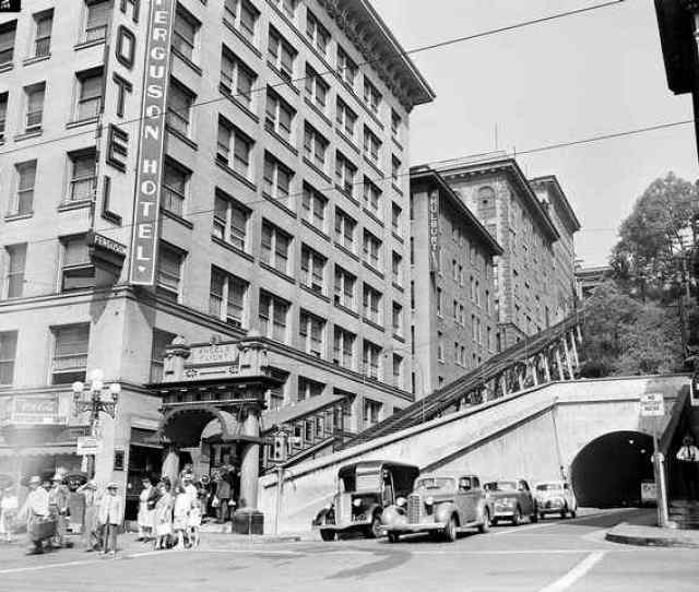 This Aug   File Photo Shows The Angels Flight Funicular Seen In Its Original Location Next To The Rd Street Tunnel In Downtown Los Angeles
