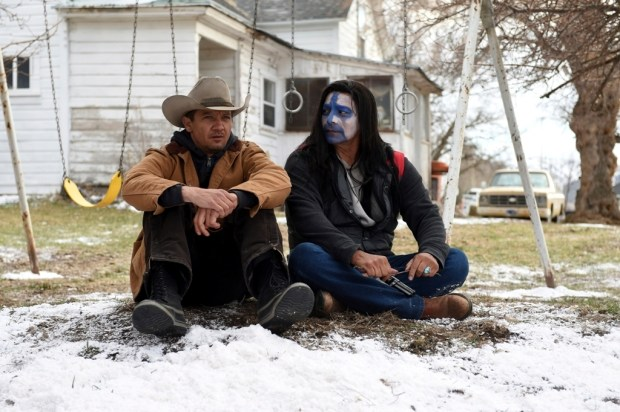 """Jeremy Renner, left, and Gil Birmingham in a scene from """"Wind River."""" (Fred Hayes/The Weinstein Company)"""