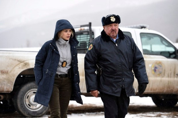 """Elizabeth Olsen and Graham Greene in """"Wind River."""" (Fred Hayes/The Weinstein Company)"""