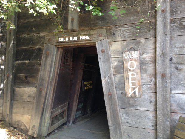 The cool darkness of Placerville's Gold Bug Mine offers plenty of history-- and perhaps a few ghosts. (Jackie Burrell/Bay Area News Group)
