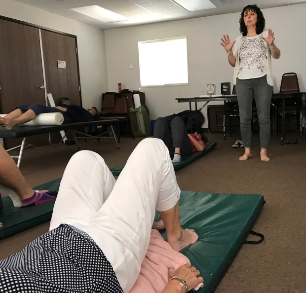 Photograph by Brandy Miceli. Westlaken reminds her students that its important for the movements in her Feldenkrais class to feel easy. It should feel comfortable, not strained in any way.
