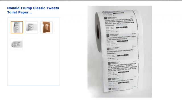 On a Roll: Amazon Sells Toilet Paper With Trump Tweets