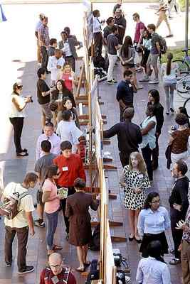 Science, Technology, Engineering and Mathmatics Diversity Program students present their research at a UC Santa Cruz symposium in 2014. Diversity on the campus has been on the rise in recent years. (Dan Coyro -- Santa Cruz Sentinel file)