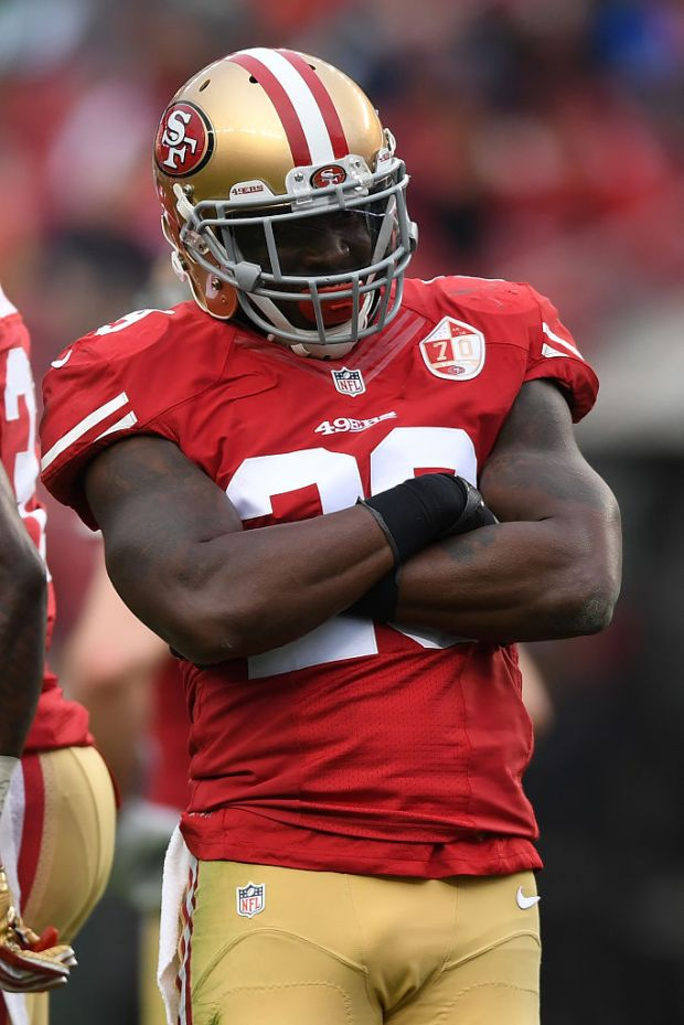 SANTA CLARA, CA - DECEMBER 11: Jimmie Ward #25 of the San Francisco 49ers reacts after a sack against the New York Jets during their NFL game at Levi's Stadium on December 11, 2016 in Santa Clara, California. (Photo by Thearon W. Henderson/Getty Images)