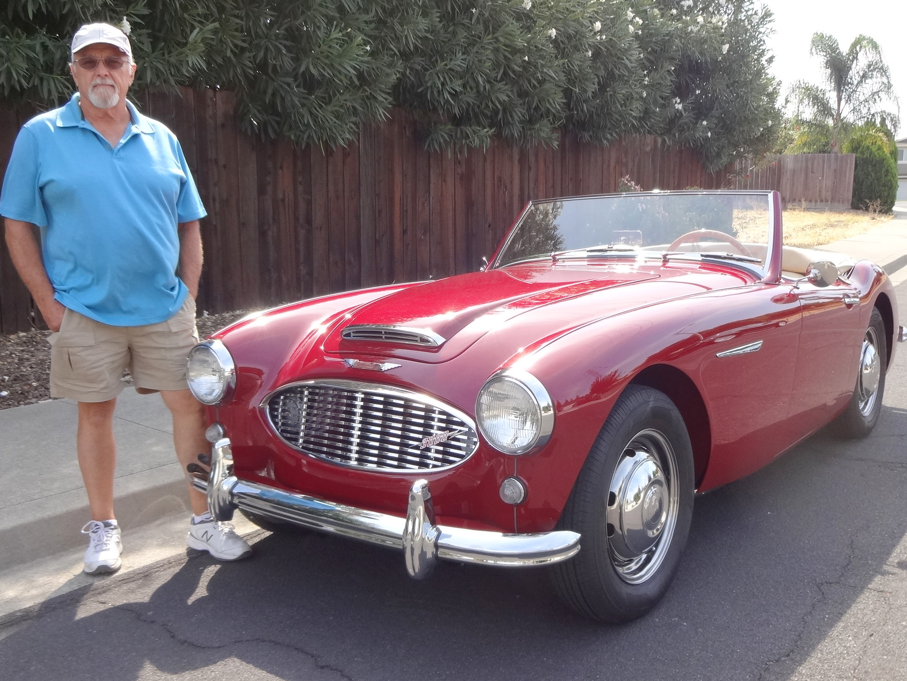 Me   My Car   61 Austin Healey restored from  mess  Pete Davies of Antioch shows his fully restored 1961 Austin Healey 3000  Mark I   Photo by David Krumboltz