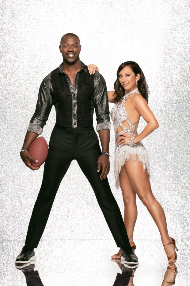 """DANCING WITH THE STARS - TERRELL OWENS AND CHERYL BURKE - The celebrity cast of """"Dancing with the Stars"""" are donning their glitzy wardrobe and slipping on their dancing shoes as they ready themselves for their first dance on the ballroom floor, as the season kicks off on MONDAY, SEPTEMBER 18 (8:00-10:01 p.m. EST), on the ABC Television Network. (ABC/Heidi Gutman)"""