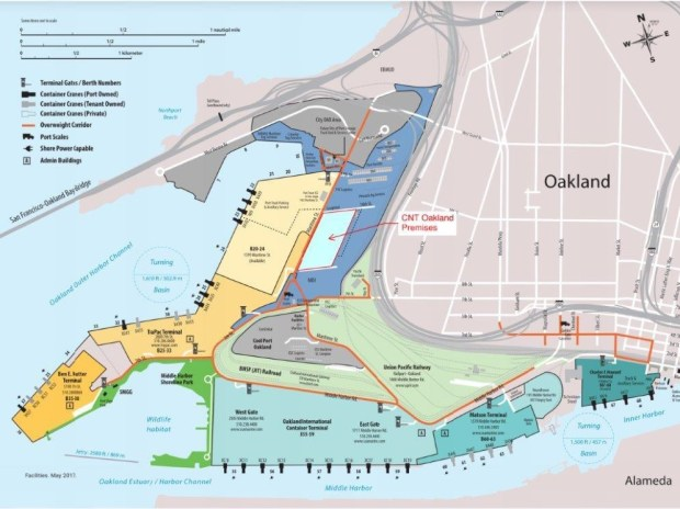 A rendering of the proposed site for a warehouse logistics complex at the Port of Oakland. (Image courtesy Port of Oakland)