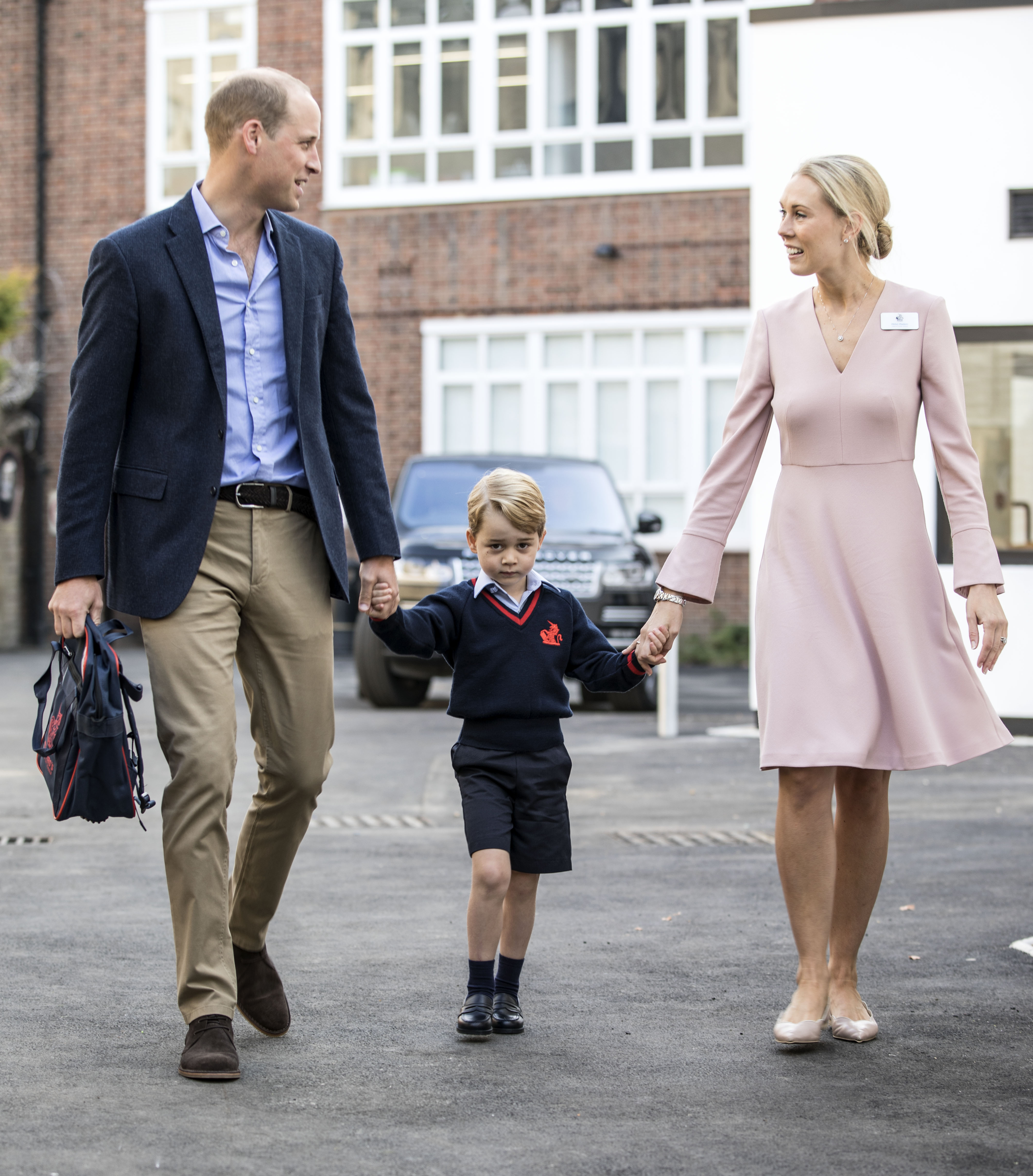 Prince George's first day at Thomas's Battersea 'went well' says Prince William
