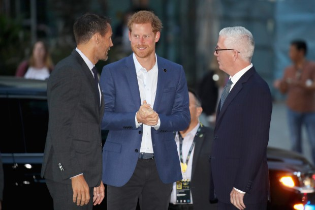 TORONTO, ON - SEPTEMBER 22: Prince Harry (C) attends the True Patriot Love Symposium at Scotia Plaza during a pre Invictus Games event on September 22, 2017 in Toronto, Canada. (Photo by Chris Jackson/Getty Images for Invictus Games)