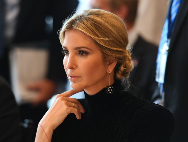 "Ivanka Trump attends the event ""A Call to Action to End Forced Labour, Modern Slavery and Human Trafficking"" on September 19, 2017 at the United Nations in New York. / AFP PHOTO / DON EMMERT (Photo credit should read DON EMMERT/AFP/Getty Images)"