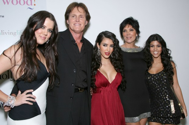 "LOS ANGELES - OCTOBER 9: Khloe Kardashian, former Olympian Bruce Jenner, T.V. personality Kimberly Kardashian, Kris Jenner and Kourtney Kardashian arrive at the Premiere of the new reality show ""Keeping up with the Kardashians"" held at the Pacific Design Center on Octorber 9,2007 in Los Angeles, California. (Photo by Alberto E. Rodriguez/ Getty Images)"