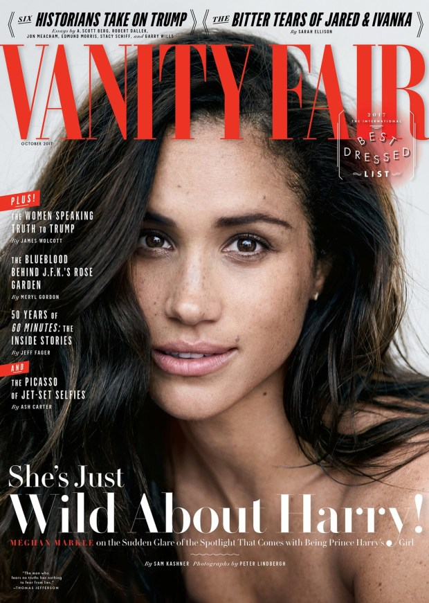 Vanity Fair cover photo of Meghan Marble (PETER LINDBERGH)