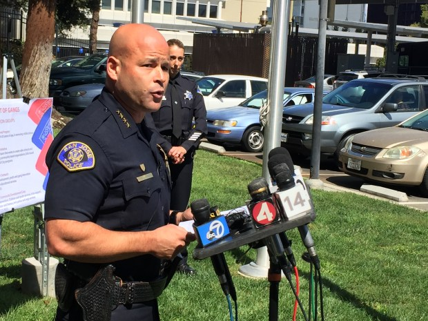 San Jose police Chief Eddie Garcia conducts a news conference on Sept. 18, 2017 regarding a fatal officer-involved shooting that occurred on Sept. 15, involving a confrontation with a shooting and robbery suspect.