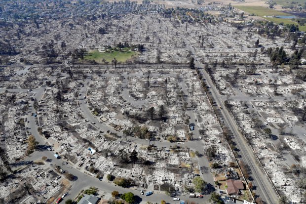 FILE – In this Oct. 14, 2017 file photo, an aerial view shows the devastation of the Coffey Park neighborhood after a wildfire swept through it in Santa Rosa, Calif. CalFire spokesman Daniel Berlant said Monday, Oct. 23, 2017, the estimate of homes and structures destroyed was boosted from 6,900 late last week to 8,400 […]