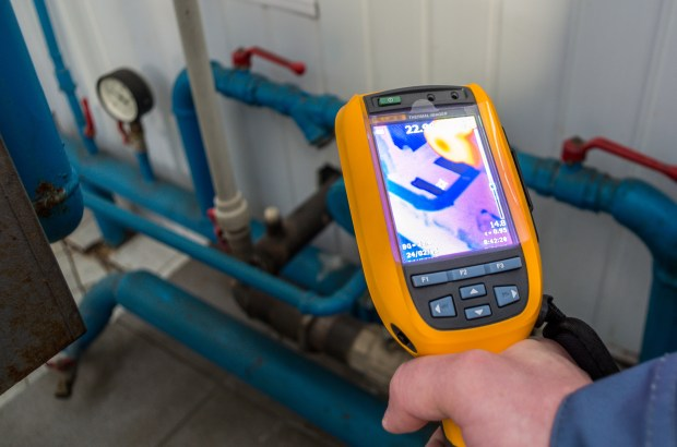 In a home energy audit, thermal imaging cameras are used to identify air leaks and other inefficiencies.