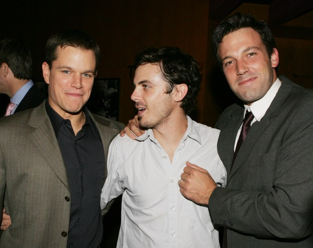 Matt Damon, Casey Affleck and Ben Affleck in 2005 (iPhoto by Kevin Winter/Getty Images)