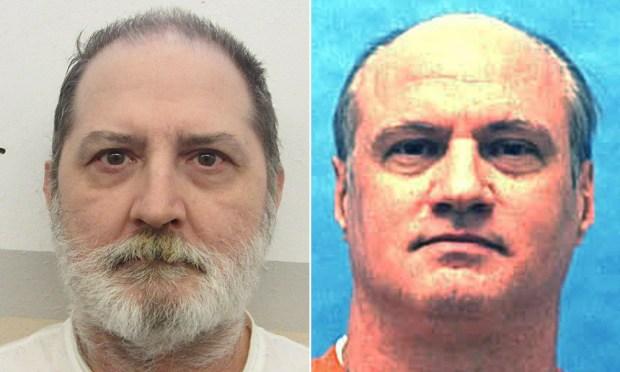 Jeffery Borden, Michael Lambrix. (Alabama and Florida departments of corrections, via AP)