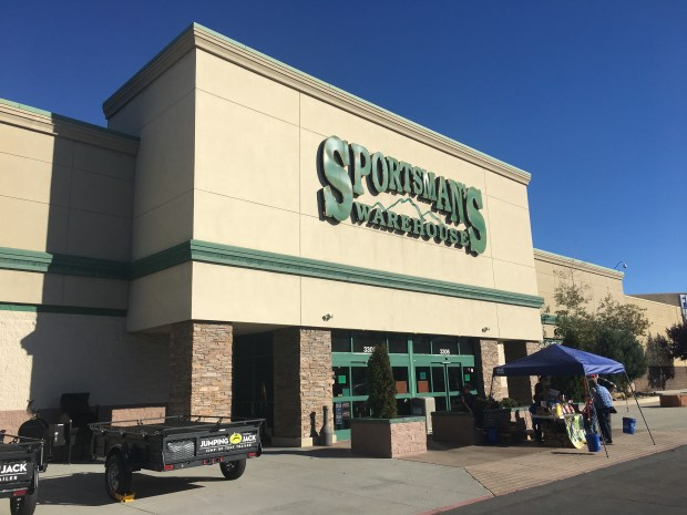 The Sportsman's Warehouse is photographed in Reno, Nev., on Saturday, Oct. 7, 2017. Sportsman's Warehouse sold multiple guns to Stephen Paddock and many of those weapons were found in his Las Vegas hotel room, a source familiar with the investigation said. (Casey Tolan/Bay Area News Group)