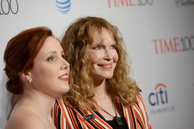 NEW YORK, NY - APRIL 26: Dylan Farrow (L) and Mia Farrow attend 2016 Time 100 Gala, Time's Most Influential People In The World red carpet at Jazz At Lincoln Center at the Times Warner Center on April 26, 2016 in New York City. (Photo by Ben Gabbe/Getty Images for Time)