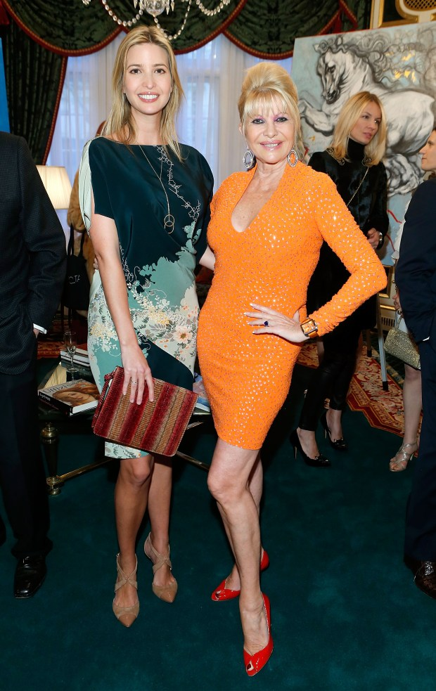 NEW YORK, NY - APRIL 30: Ivanka Trump and Ivana Trump attend the exhibition of artwork featuring Giovanni Perrone and hosted by Ivana Trump and Mark Antonio Rota on April 30, 2013 in New York City. (Photo by Jemal Countess/Getty Images)