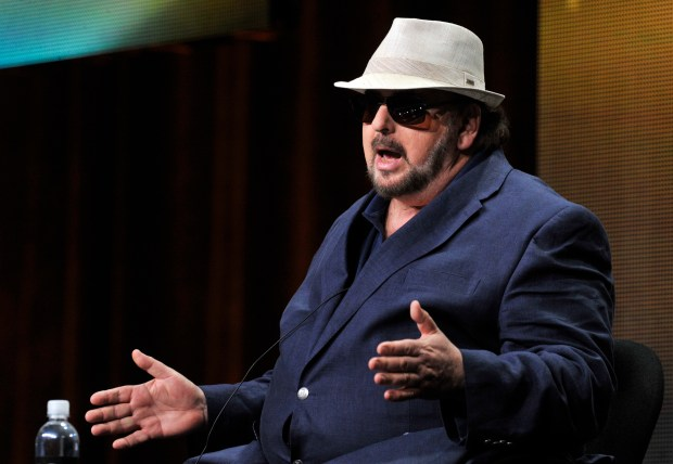 FILE - In this Thursday, July 25, 2013, file photo, James Toback takes part in a panel discussion during HBO's Summer 2013 TCA panel at the Beverly Hilton Hotel in Beverly Hills, Calif. Toback has been accused of sexual harassment by more than 30 women in a report published Sunday, Oct. 22, 2017, in The Los Angeles Times following the ongoing downfall of producer Harvey Weinstein. (Photo by Chris Pizzello/Invision/AP, File)
