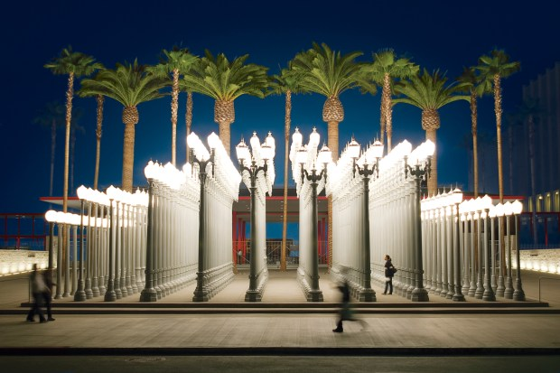 Los Angeles County Museum of Art at night (Discover Los Angeles)