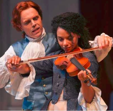 """Mark Anderson Phillips and Tara Pacheco play the lead roles in """"Thomas and Sally."""" (Photo by Kevin Berne)"""